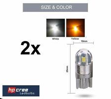 2x NEW LED UPGRADE T10 501 W5W 3030SMD 2 LED CANBUS AMBER INDICATOR LIGHT BULBS