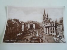 ABERDEEN, Castle Street+Union Street, Real Photo Postcard Franked 1938  §A1983