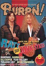 Burrn! Heavy Metal Magazine May 1999 Japan Ratt John Sykes Iron Maiden