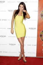 New Kendall's ALEXANDER WANG Yellow bodycon mini dress P S