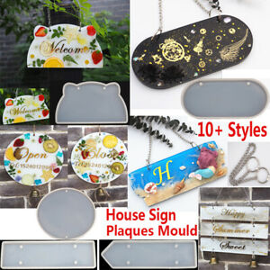 House Sign Plaques Resin Casting Mold Silicone Agate Making Epoxy Mould Craft