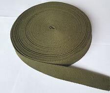 34mm strong CANVAS webbing olive green Bag Handle Sew Strap Belt DIY TWILL Yoga