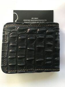 Genuine Crocodile  Black Wallet