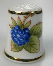 Fingerhut thimble blaue Beere handbemalt Hollohaza Ungarn