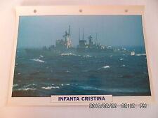 CARTE FICHE NAVIRES DE GUERRE INFANTA CRISTINA 1977 FREGATE