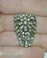 Pretty vintage paste Art Deco dress or shoe clip, no stones are missing
