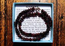 Garnet Gemstone Necklace Choker Bracelet, copper clasp - HANDMADE REIKI CLEANSED