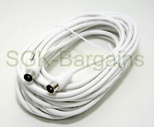 10m MALE TO MALE TV AERIAL COAXIAL CABLE EXTENSION FREEVIEW CABLE COAX LEAD
