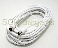 10 Metros Macho A Macho Antena Tv Coaxial Cable de extensión Tdt Cable Coaxial De Plomo