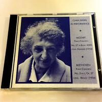 Clara Haskil In Performance : Piano Concertos Mozart No. 27 & Beethoven No. 3 CD