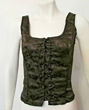 Frederick's of Hollywood F1441 Brocade Lace Up Bustier Corset Top Small Usa made