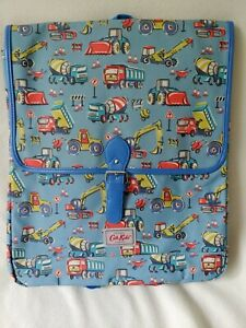 Cath Kidston Kids Large Backpack Construction Site Pattern New
