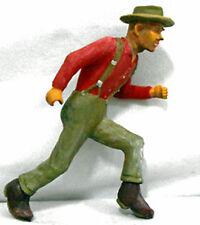 LUMBERJACK CHOCK SETTER G F 1:20.3 Model Railroad Painted Figure FGGLOG03