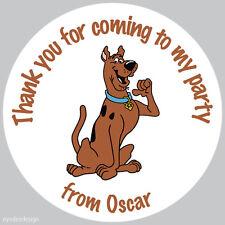 Personalizado Scooby Doo 37mm Cumpleaños Etiquetas Fiesta gracias Sellos-N96