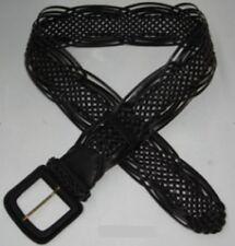 (B215/6)Women' Fashionable Wide Belt/Stylish Woven Plaited Designed/Faux Leather