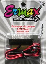 Eclairage de plaque moto à 5 Leds Ermax  Homologué E9