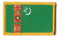 TURKMENISTAN FLAG PATCH BADGE IRON ON EMBROIDERED NEW