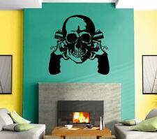 Guns Revolvers Skull Gangster Decor  Mural Wall Art Decor Vinyl Sticker z416