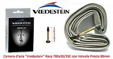Camera d'aria Vredestein 700x20/25 Valvola Presta 80mm x Bici 28 Fixed Scatto Fi