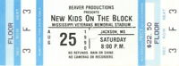 NEW KIDS ON THE BLOCK 1990 MAGIC SUMMER TOUR UNUSED CONCERT TICKET / EX 2 NMT