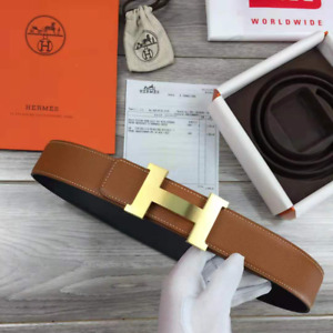 Authentic HERMES Black and Brown Leather Belt