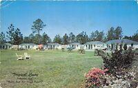 Folkston Georgia 1958 Postcard Tropical Court Motel