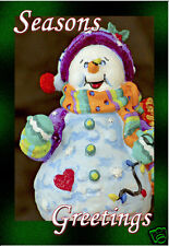 "Smowman Season Greetings Fridge Magnet 3.25""x 2.25"" Collectibles (PMD11006)"