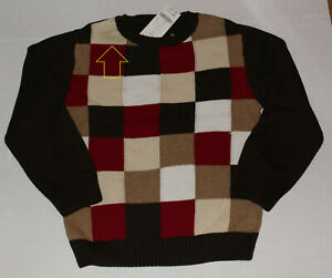 5 6 NWT Gymboree EMPIRE STATE EXPRESS Brown Patchwork SWEATER Boys 5/6 S