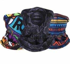 Seamless Face Scarf Bandana Cloth Mask Neck Thermal Warmer Fleece Tube Cycling