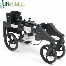 Genesis Lightweight 4 Wheel Rollator Dual X Folding Compact Walker Walking Frame