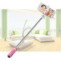 Pink Foldable Mini Handheld Extendable Selfie Stick For iPhone 8 8 Plus 7 6S 6