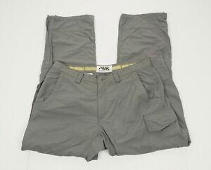 Mountain Khakis Gray Hiking Zip-Off Convertible Pants Mens 36 x 32
