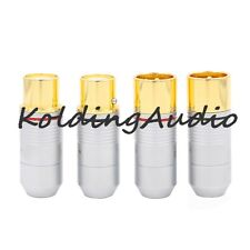 4P High end 3 pin XLR Connector Jack adapter insulator Gold plate