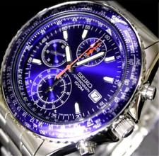 Seiko Hombre Aerospace Piloto Slide Rule Cronógrafo Reloj Snd255 Snd255p1 Garantía