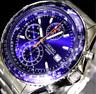 Seiko Men Aerospace Pilot Slide Rule Chronograph Watch Snd255 Snd255p1 WARRANTY