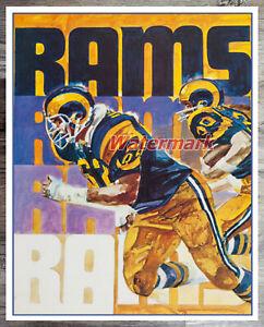 NFL Vintage Los Angeles Rams REPRINT Color 8 X 10 Photo Picture