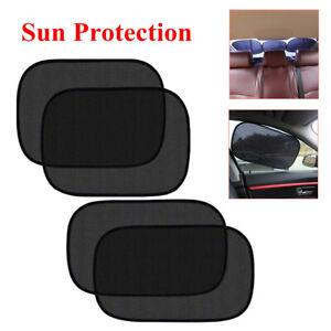 4Pcs Car Side Window Shade Block Curtain Visor Mesh Shield UV Sun Protection