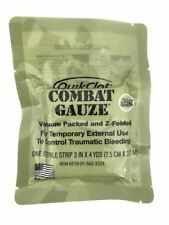 Quick Clot Combat Gauze EXP 01 2022, Army Issue IFAK Med Supplies, Z-Folded