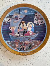 """Vintage Collectors Plate Flight Into Egypt byHedi Keller 9.5"""" Konigszelt Bavaria"""