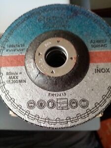 Euro Cut 100mm x 6mm Stainless Grinding Discs dated 12/2021 Pack of 25 or 50
