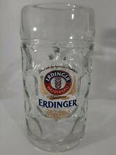 Erdinger Weissbrau Stein Glass Beer Mug Germany European M19 1446