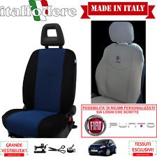 COPPIA COPRISEDILI Anteriori Specifici FIAT PUNTO (Tutte) Foderine Azzurro 10