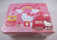 Hello Kitty 100 Piece Puzzle And Metal Lunch Box - Sealed!