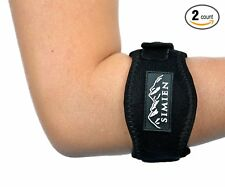 SIMIEN Tennis Elbow Brace (2-count) - Pain Relief for Tennis & Golfer's Elbow