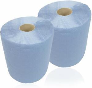 2 x HMH Putztuchrolle Blau Putztuch 22x34cm Blatt Putzpapier Werkstatt Putzrolle