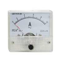 Class 2.5 Accuracy AC 0-10A Analog Panel AMP Meter 85L1 F3H8