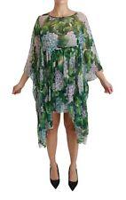 DOLCE & GABBANA Dress Hydrangea Silk Kaftan Multicolor IT40 / US6 / S