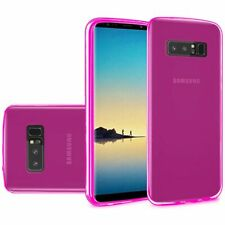 For Samsung Galaxy Note 8 - New Slim Frosted TPU Case Cover - Hot Pink