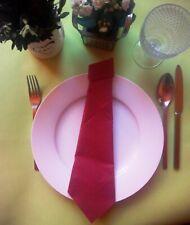 95fe356b44 Bordeaux Krawatte aus Servietten fertig gefaltet 10 Stück Tischdeko