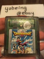Dragon Warrior III 3 Nintendo Game Boy Color GBC TESTED AUTHENTIC SAVES gameboy